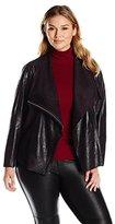 Calvin Klein Women's Plus-Size Distressed Flyaway Jacket