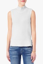 7 For All Mankind Sleeveless Mock Neck Sweater In Off White