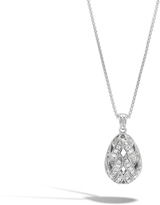 John Hardy Women's Classic Chain Pendant Necklace in Sterling Silver with Diamonds