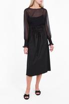 The Row Daul Lace Up Waist Skirt