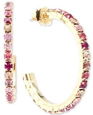"""Zenzii Gold-Tone Medium Crystal Hoop Earrings, 1.5"""""""