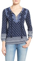 Lucky Brand Women's Embroidered Boho Top