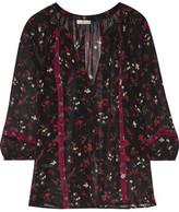 Joie Gloria Floral-Print Silk-Chiffon Blouse