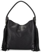 Christian Louboutin Eloise Fringe Leather Hobo Bag, Black