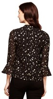 Yumi Floral Print Blouse with Polo Shirt Collar