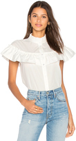Blaque Label Ruffle Poplin Button Up