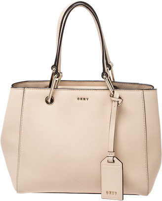 DKNY Beige Leather Tote