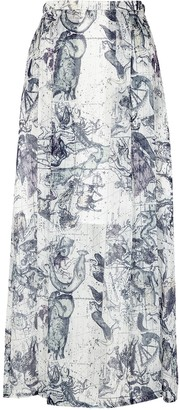 Raquel Allegra Zodiac Printed Maxi Skirt