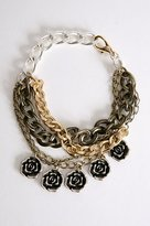 Chain and Flower Bracelet