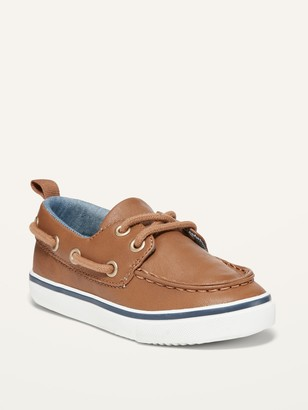 Old Navy Faux-Leather Boat Shoes for Toddler