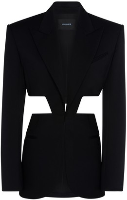Thierry Mugler Cropped Wool V Neck Vest