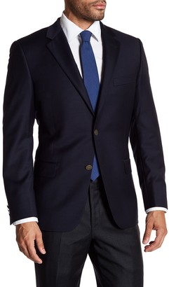 Hickey Freeman Navy 2-Button Notch Lapel Classic Fit Wool Blazer