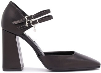 Karl Lagerfeld Paris Pyramide double-strap leather pumps