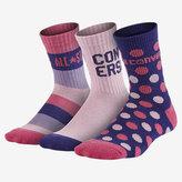 Nike Converse All Star Multi-Stripe Crew Big Kids' (Girls') Socks (3 Pair)