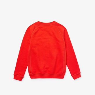 Lacoste Boys Embroidered Croc Cotton Graphic Sweatshirt