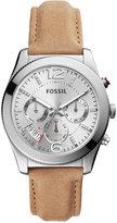 Fossil Women's Perfect Boyfriend Light Brown Leather Strap Watch 39mm ES4080
