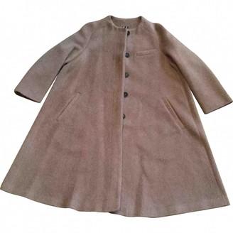 Jil Sander Camel Wool Coat for Women