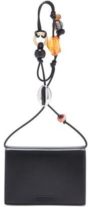 Jil Sander Beaded-strap Leather Wallet Bag - Black