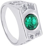 styleinside® Women's Lady Girls Green Lantern Acrylic Rhinestone Hollow out Band Statement Finger Rings Charm,# 9 Mother's Day gift