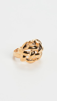 Kenneth Jay Lane Polished Gold Weave Adjustable Ring