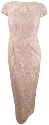 Alex Evenings Women's Long Embroidered Column Dress