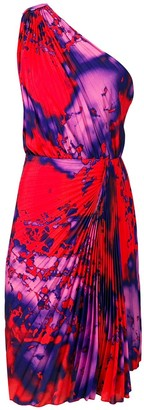 MSGM Pleated One-Shoulder Dress