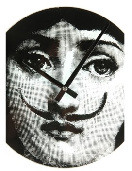 Stilnovo Girl With Moustache Wall Clock