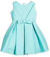 Helena Sleeveless Pique A-Line Dress, Aqua, Size 7-14