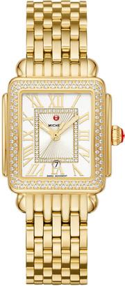 Michele Deco Madison Mid Diamond Watch, Gold