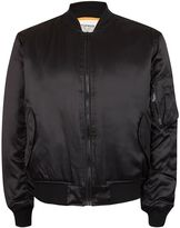 Topman FINDS Black Embroidered MA1 Bomber Jacket