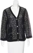 Chanel V-Neck Open Knit Cardigan