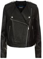 Diane von Furstenberg Tadessa Leather Biker Jacket