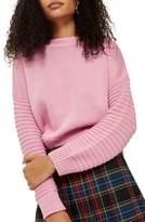 Topshop Stitch Detail Sleeve Sweater