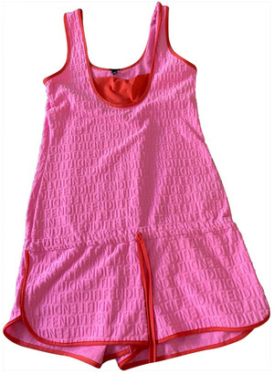 Fendi Pink Synthetic Jumpsuits