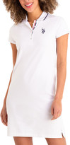 U.S. Polo Assn. Women's Casual Dresses WHITE - White Solid Polo Dress - Women