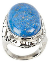 Lapis Steel by Design Stainless Steel Bold North-South Gemstone Ring
