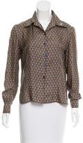Hermes Silk Printed Top