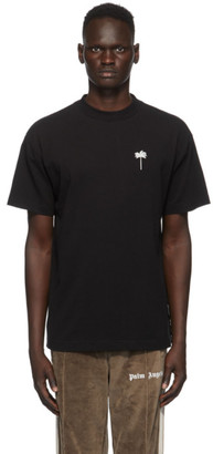 Palm Angels Black Embroidered Palm T-Shirt