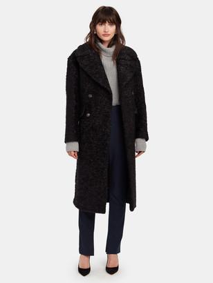 Diane von Furstenberg Ariana Metallic Tweed Double-Breasted Coat