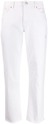 Karl Lagerfeld Paris Straight Leg Cropped Jeans