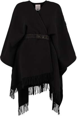 Moncler Wool Fringed Cape
