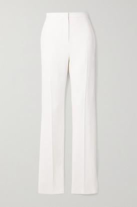 Alexander McQueen Crepe Slim-leg Pants - White
