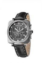 Roberto Cavalli Men's Bohemienne Chronograph Watch R7271666025 with Genuine Alligator Band and Black Dial
