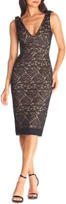 Dress the Population Mary Lace Body-Con Cocktail Dress