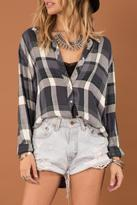 Others Follow Slouchy Plaid Shirt