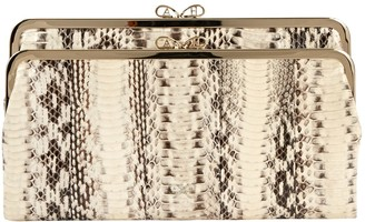 Anya Hindmarch White Python Clutch bags