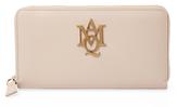 Alexander McQueen Insignia Leather Zip Around Wallet