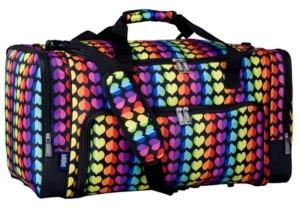 Wildkin Rainbow Hearts Weekender Duffel Bag
