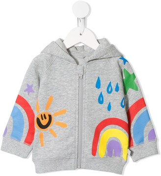 Stella McCartney Kids Illustration Print Zipped Hoodie