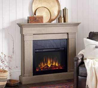 Pottery Barn Livingston Electric Fireplace, Gray Wash